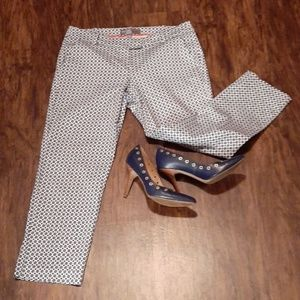 Donna Ricco Navy and White Dress Pants